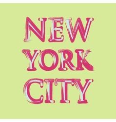 New york flag typography t-shirt graphics vector image