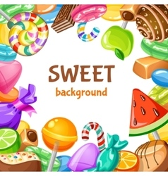 Sweet Candy Background vector image vector image