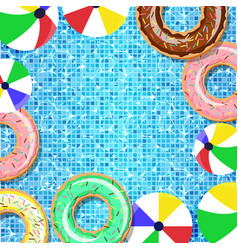 top view of the swimming pool vector image vector image