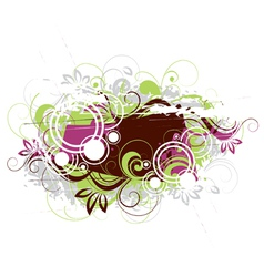vegetative abstraction vector image vector image