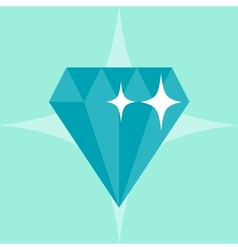 Abstract diamond concept in flat style vector image