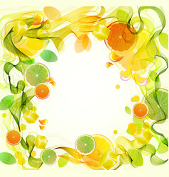 background with citrus vector image