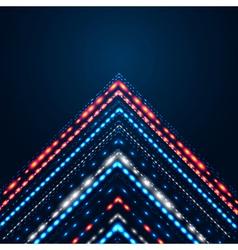 Elegant shiny arrow on a dark blue background vector image
