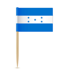 honduras flag flag toothpick 10eps vector image vector image