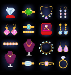jewelry jewellery gold bracelet necklace vector image vector image