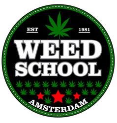 marijuana stamp over white background vector image