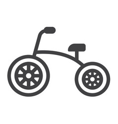 tricycle line icon bike and toy vector image vector image
