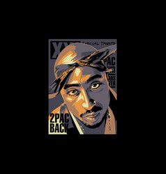 2pac back vector
