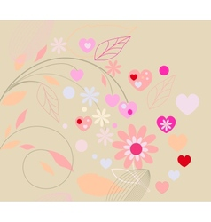 Abstract floral retro background vector