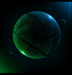 abstract technology 3d sphere futuristic planet vector image