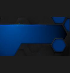 abstract technology digital hi tech hexagons vector image