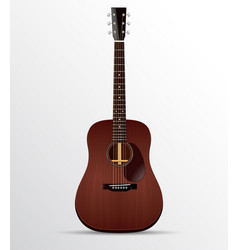 acoustic guitar mahogany dreadnought isolated vector image