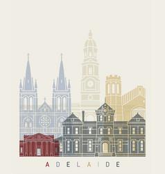 Adelaide v2 skyline poster vector