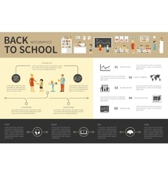 Back To School infographic flat vector image