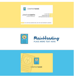 beautiful personal diary logo and business card vector image