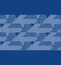 blue and white simple geometric seamless pattern vector image