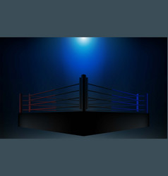 Boxing ring arena and floodlights design vector