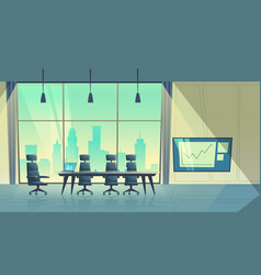 cartoon conference hall room for meetings vector image