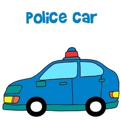 Collection of police car art vector image