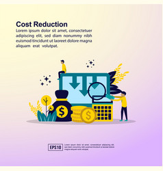 Cost reduction concept with character template vector