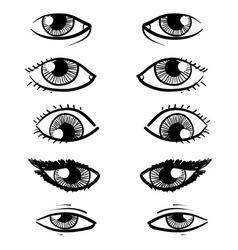 Doodle facial features eyes vector