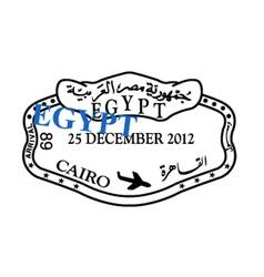 Egypt visa stamp vector