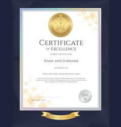 Elegant portrait certificate template vector