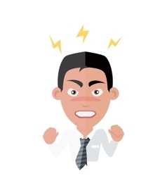Emotion Avatar Man Angry Success vector
