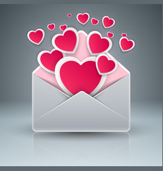 envelop heart love gift icon vector image