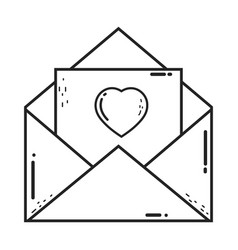 Envelope with heart icon vector