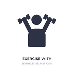 Exercise with dumbbells icon on white background vector