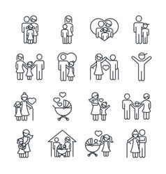 family day father mother kids grandparents vector image