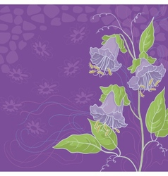 Flowers kobe and abstract pattern vector image