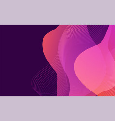 Fluid colorful dynamic background design vector
