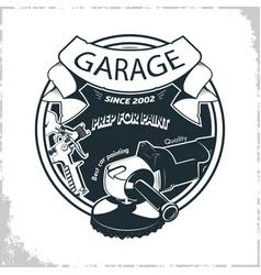 Garage grinder sprey gun vector