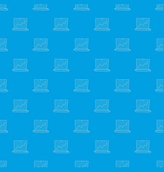 graphic pattern seamless blue vector image