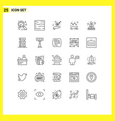 Group 25 lines signs and symbols vector