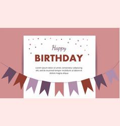 happy birthday card birthday party elements vector image