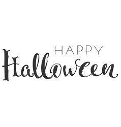Happy halloween handwriting ornate text greeting vector
