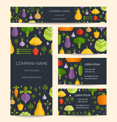 Identity for healthy organic food business vector