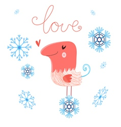 in love bird vector image