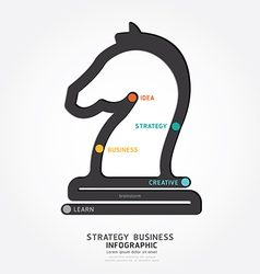 Infographic business strategy line concept vector