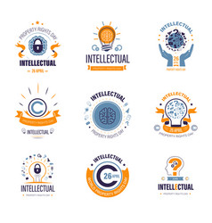 Intellectual property rights day creativity vector