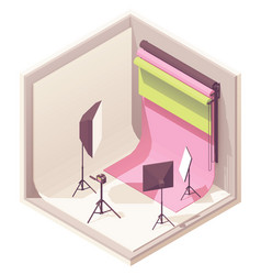 Isometric photo studio vector