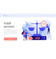 Legal services concept landing page vector