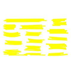 Marker lines highlighter brush lines hand drawing vector