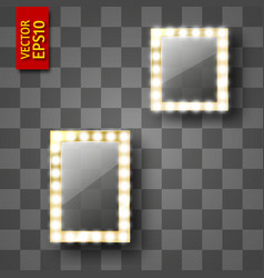 mirror for make-up or a photo frame vector image
