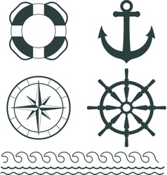 Nautical decoration vector image