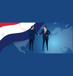 netherlands international partnership diplomacy vector image