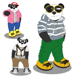 Panda lifestyle Fashion vector image